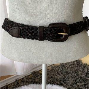 Ann Klein leather Black Belt